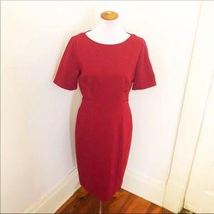 Elie Tahari raspberry red sheath dress 12